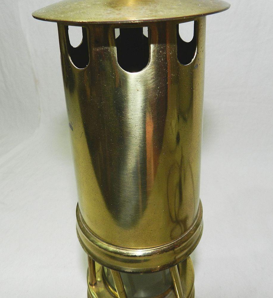 rare ancienne lampe de mineur faisant lampe de table electrifiee fonctionne ebay. Black Bedroom Furniture Sets. Home Design Ideas
