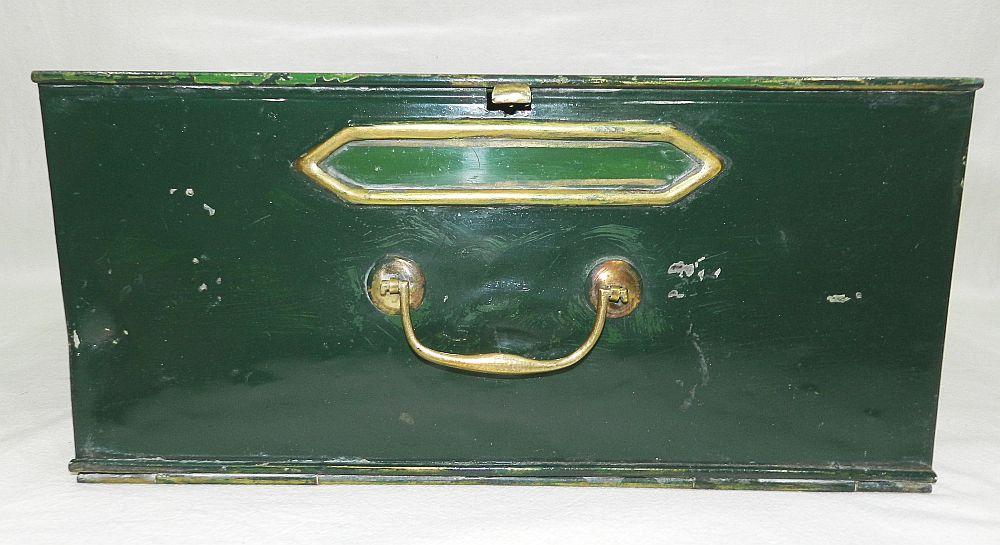 belle et ancienne boite a archives de notaire en metal 1900 ebay. Black Bedroom Furniture Sets. Home Design Ideas
