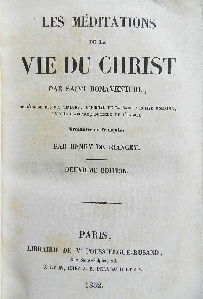 HISTOIRE ABRÉGÉE DE L'ÉGLISE - PAR M. LHOMOND – France - 1818 - DEUXIEME PARTIE ( Images et Cartes) Meditations-vie-christ-1852-bonaventure3